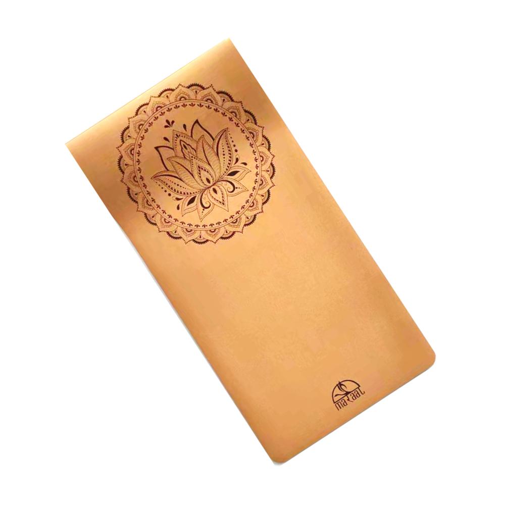 TARU Dedication (LOTUS)– Long, Wide & Thick- Organic Cork and Natural Rubber Yoga Mat